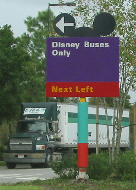 Disney Traffic Sign