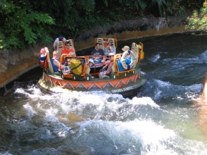 If you're wearing shoes and socks on Kali River Rapids, you could end up with soaked feet.