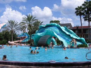 The pool at Port Orleans French Quarter.