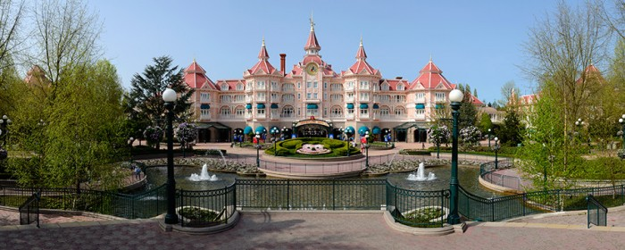 An Official Disney Photo: What it is supposed to look like approaching Disneyland Park (and Disneyland Hotel).