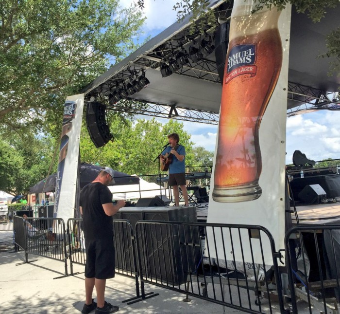 Mac McAnally's sound check in Celebration, FL