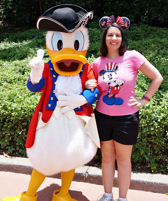 Meeting Donald at Epcot on July 4th