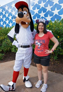 Meeting Goofy at All Star Sports on July 4th