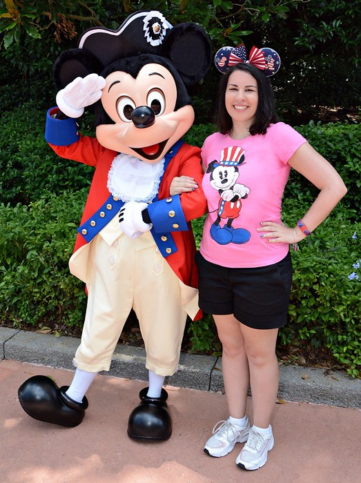 Meeting Mickey at Epcot on July 4th