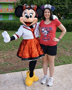Meeting Minnie at All Star Music on July 4th