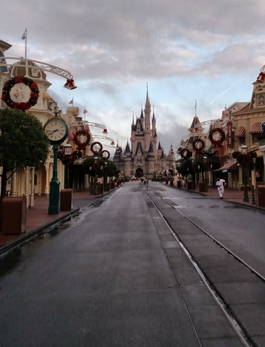 View of an empty Main Street at Magic Kingdom