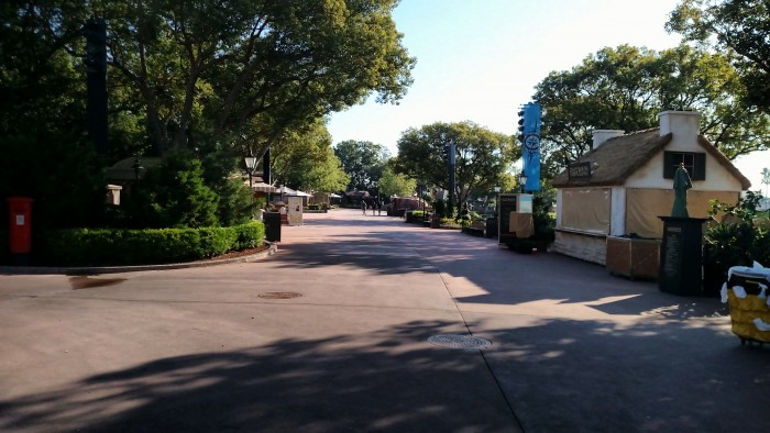 View of Epcot's World Showcase without crowds