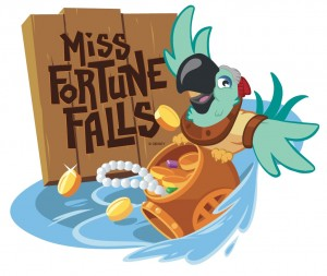 Miss Fortune Falls Water Raft Ride