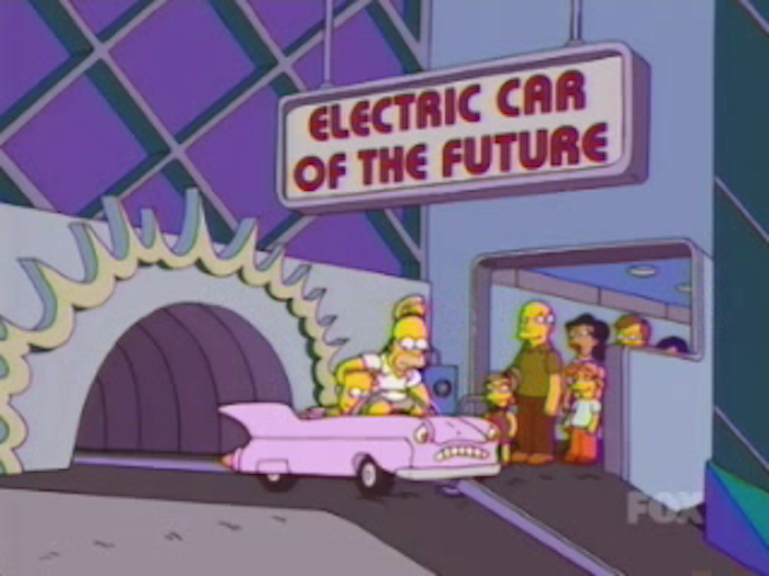 Welcome To The Electric Car Of Future Sponsored By Gasoline Producers America Note Sad Face On