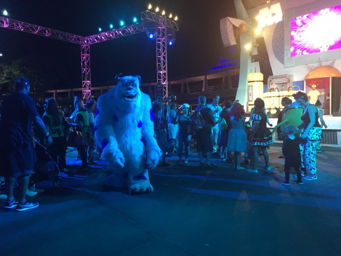 Character dance parties are a great way to see characters without waiting in line.