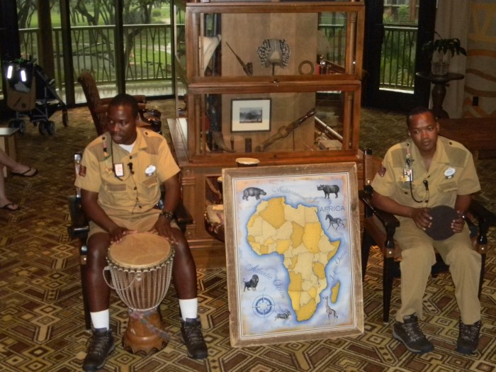 Cast members from Africa ready to engage visitors at Jambo House.