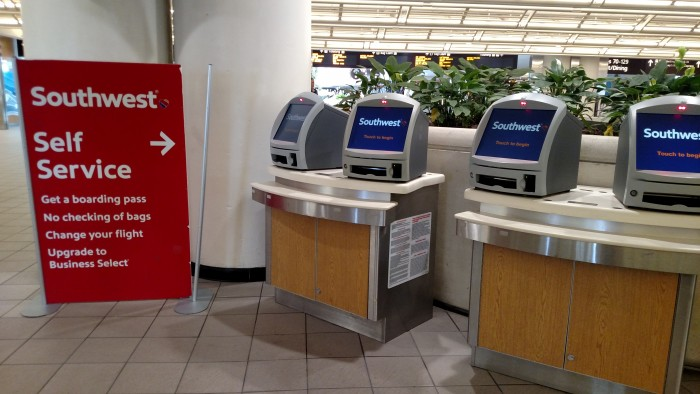 Kiosks for Southwest at Orlando International Airport