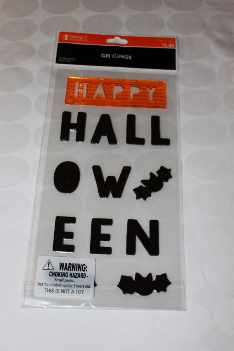 Halloween Window Clings for under $2