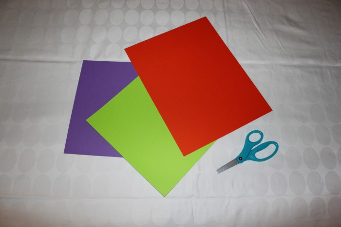 Colored paper was perfect for making Mickey window decorations