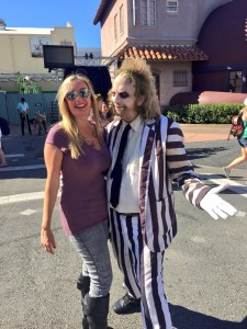 A picture with Beetlejuice is a great way to celebrate the week of Halloween