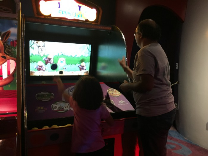 Only at DisneyQuest is a game where you throw plastic balls as hard as you can at the TV screen. No, seriously, this is something you ONLY do at DisneyQuest.