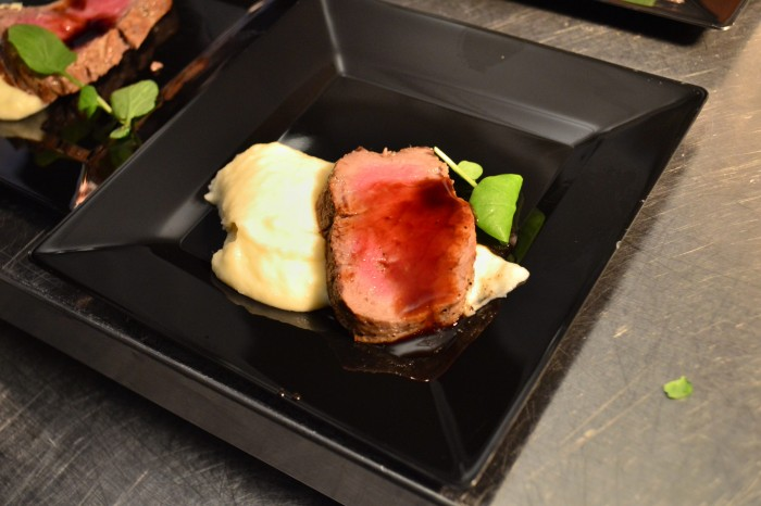 A sample of Prime NY Strip at Shula's during the Food and Wine Classic - Photo by Brandon Glover