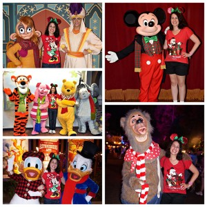 Mickey Mouse, Donald Duck, Scrooge McDuck, Aladdin, Abu, and Liver Lips Jack Skellington, Nick & Judy, Seven Dwarfs at Mickey's Very Merry Christmas Party