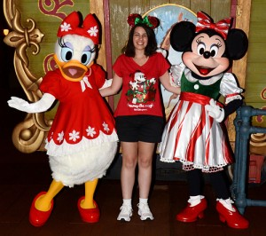 Minnie and Daisy at Mickey's Very Merry Christmas Party