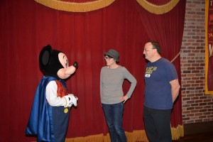 Meeting Mickey Mouse at the Magic Kingdom