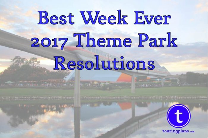 2017 Theme park resolutions