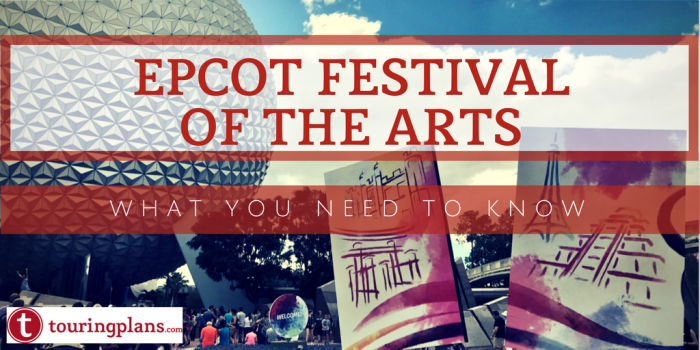 Epcot Festival of the Arts tips