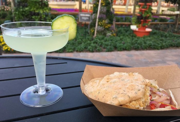 Urban Eats: Urban Fairy cocktail (returning favorite) with the Crabless Crab Cake (new).