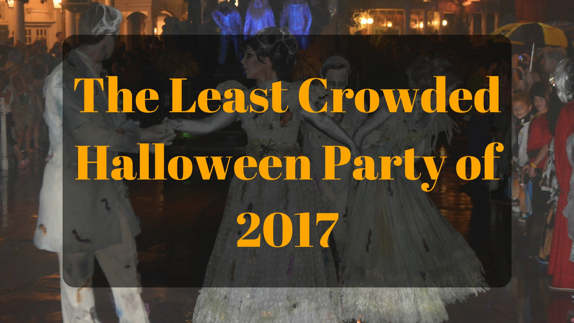 Welcome back to what has become a yearly tradition: predicting the least crowded Mickey's Not-So-Scary Halloween party. We'll look back at last year's ...