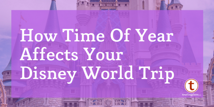 Time of year will have a huge impact on your Disney vacation. Here we talk about how to use the calendar to determine your best time to go to Disney World.