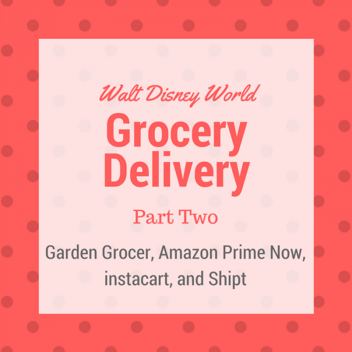 Groceries at Disney World - Delivery Services Part Two