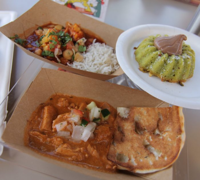 India's Madras Red Curry with Cauliflower, Chicken Korma, and Pistachio Bundt Cake