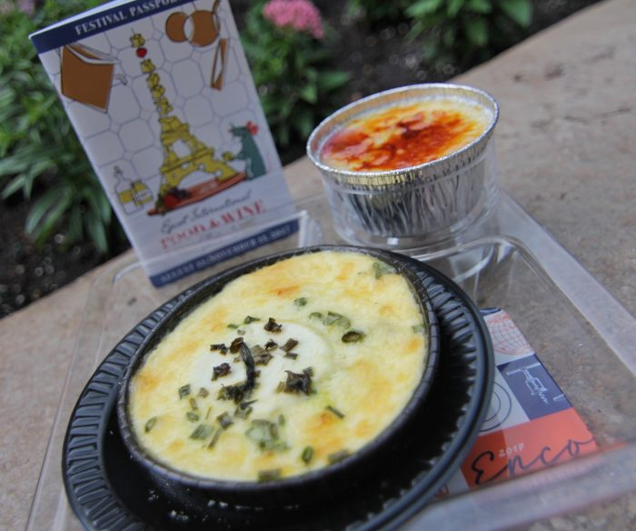 France's Warm Goat Cheese Pudding and Creme Brulee with Raspberry Jam