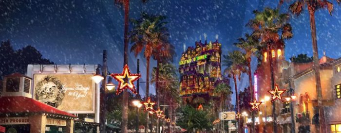 Sunset Seasons Greetings at Disney's Hollywood Studios