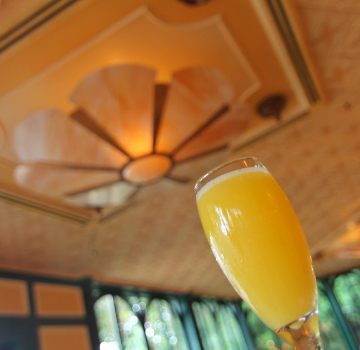 A highlight of the Parisian Breakfast: sipping mimosas in the beautiful Chefs de France dining room