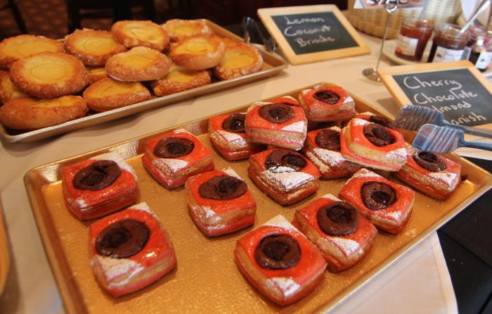 The sweet pastries available at the buffet were almost too pretty to eat