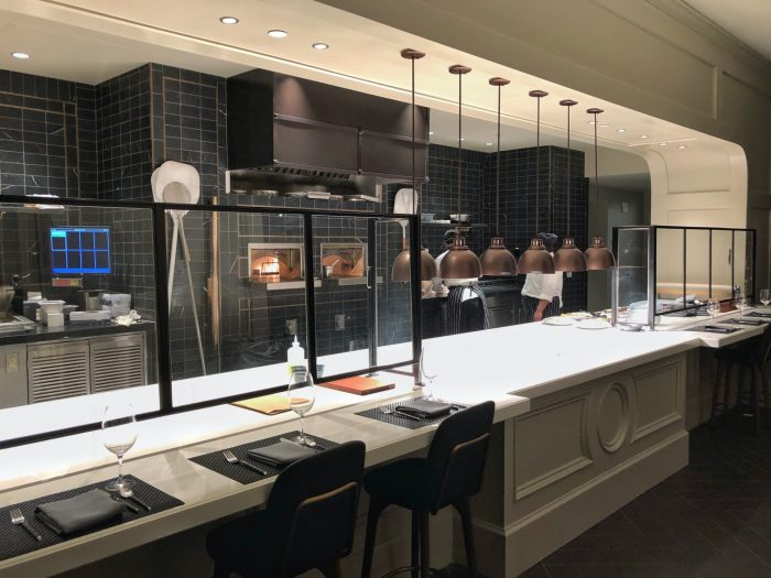 The open show kitchen at Ale & Compass