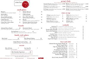 Wine Bar George review and food menu