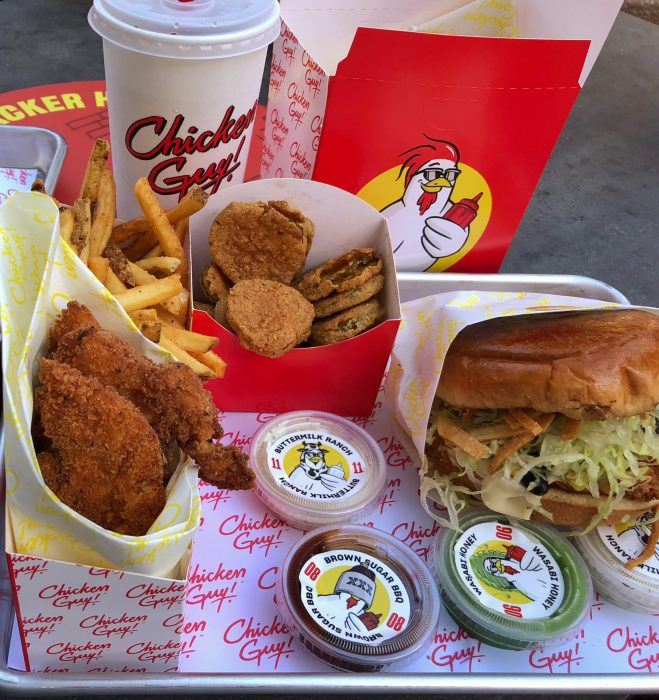 A variety of options awaits at Chicken Guy, including quality chicken tenders and fries