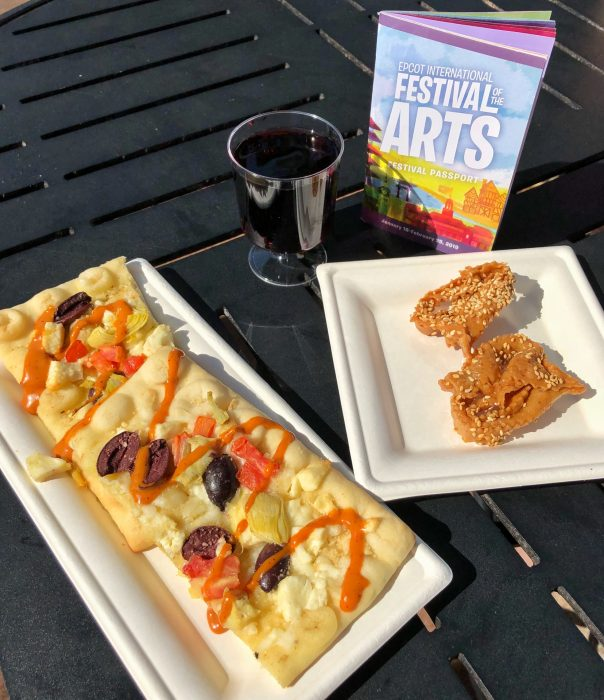 Mosaic Canteen's flatbread and chebbakia